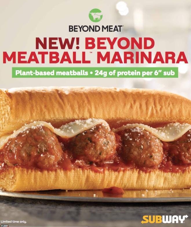 beyond meatballs in a subway sandwich