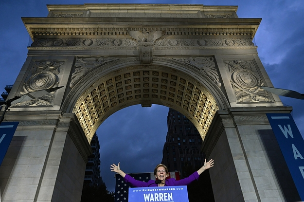 At Her Biggest Rally, Elizabeth Warren Laid Out A Model For Her Own Kind Of Movement