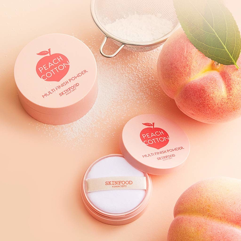the peach powder containers