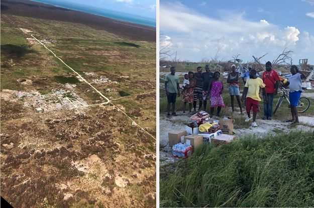 A Volunteer Helicopter Team In The Bahamas Thought It Was Just A Pile Of Debris. Then They Looked A Little Closer.