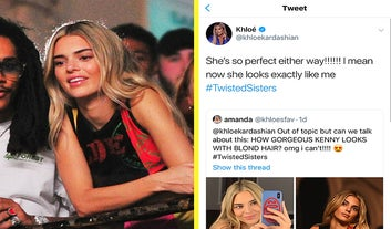 Kendall Jenner's Response To Khloé Kardashian's Compliment About Her New Hair Is Savage