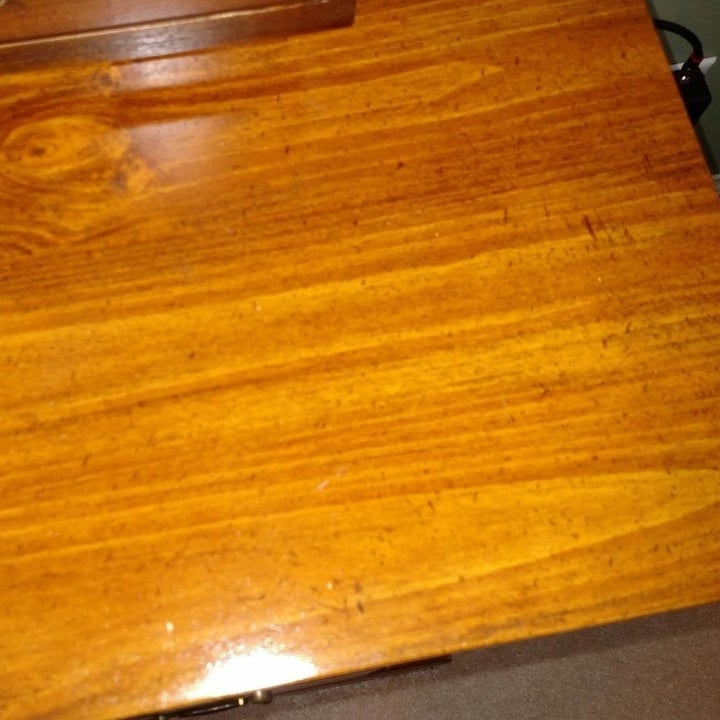 same table without stains