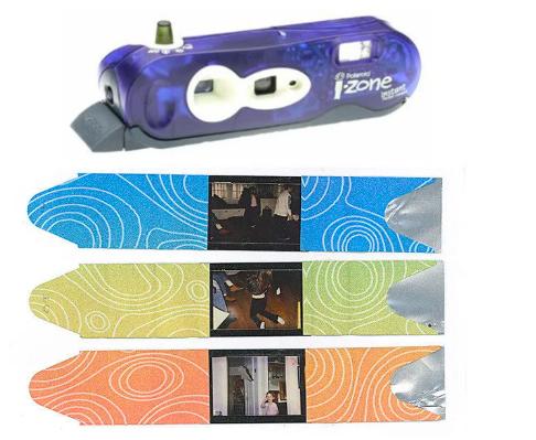 An i-Zone camera and photos