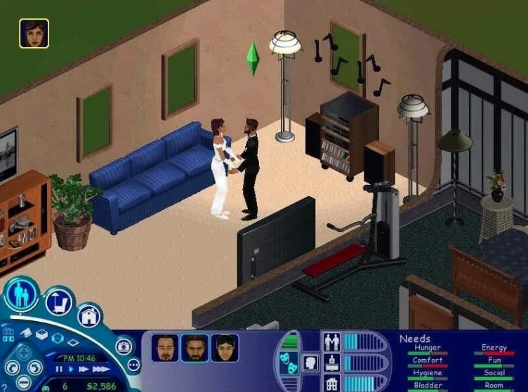 a screenshot of the sims