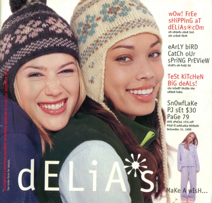 Page from Delia's catalog