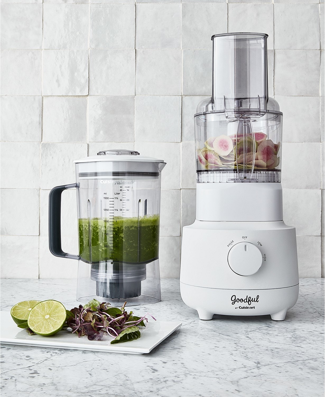 The Cuisinart blender and food processor