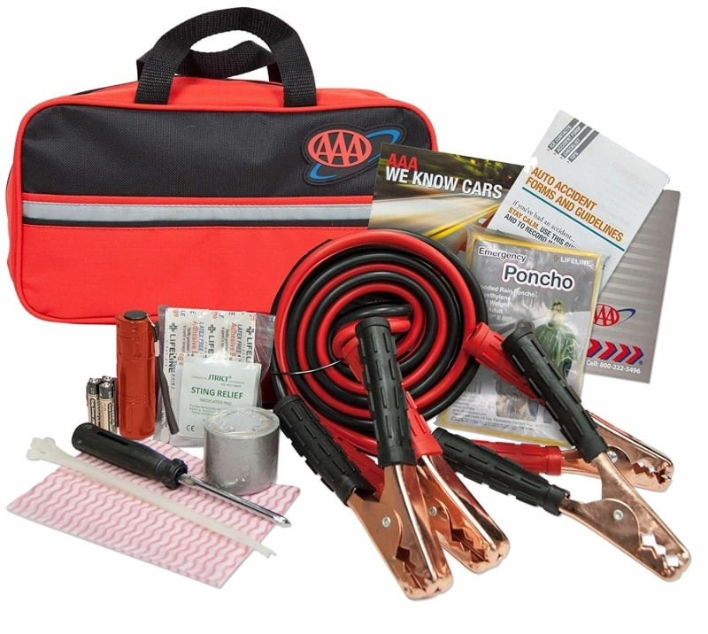 The AAA road kit and the different items that come inside of it