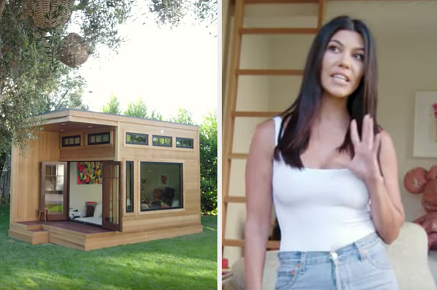 Kourtney Kardashian Gave A Tour Of Her Kid's Playhouse And It's Kind Of Ridiculous For A Kid's Playhouse