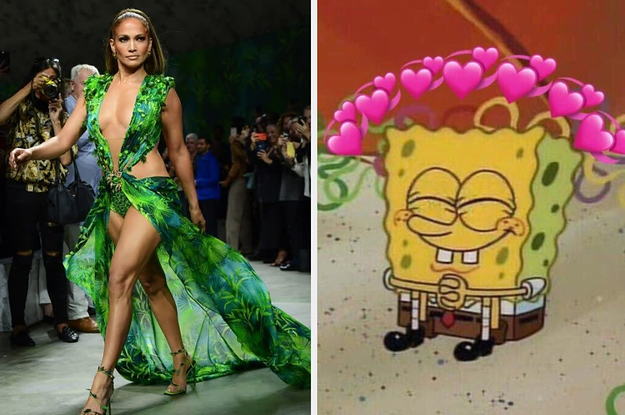 Jennifer Lopez Closed Out Versace's Show By Wearing That Iconic Green Dress