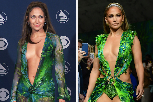 Are You More J.Lo's Old Versace Dress Or Her New Versace Dress?