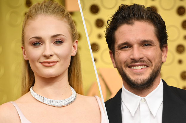 """Sophie Turner And Kit Harington's Hug At The Emmys Was Almost As Emotional As The """"GoT"""" Finale"""