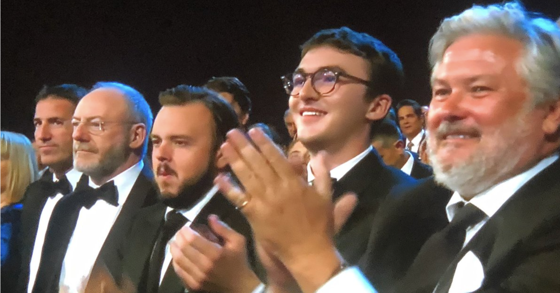 """There Was A """"Game Of Thrones"""" Tribute At The Emmys But Isaac Hempstead Wright Wasn't On Stage With Them"""