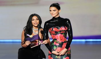 Kim Kardashian And Kendall Jenner Had An Awkward Moment On The Emmys Stage