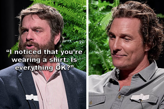 "17 Times Celebs Were Totally Roasted On Zach Galifianakis's ""Between Two Ferns"""