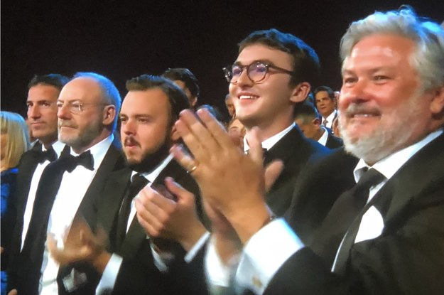 "There Was A ""Game Of Thrones"" Tribute At The Emmys But Isaac Hempstead Wright Wasn't On Stage With Them"