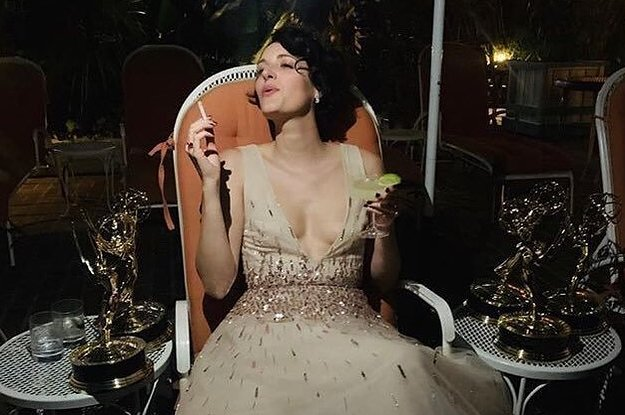 This Photo Of Phoebe Waller-Bridge After The 2019 Emmys Is Everyone's Favorite Glamour Meme