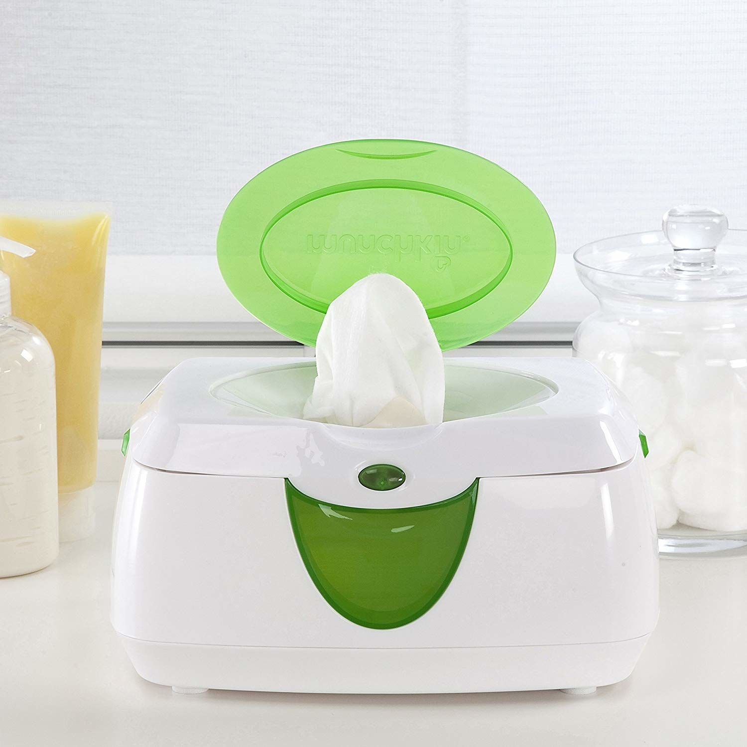 Wipe holder on counter