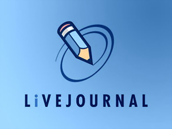 The LiveJournal logo on a light blue background with a drawing of a pencil on top.