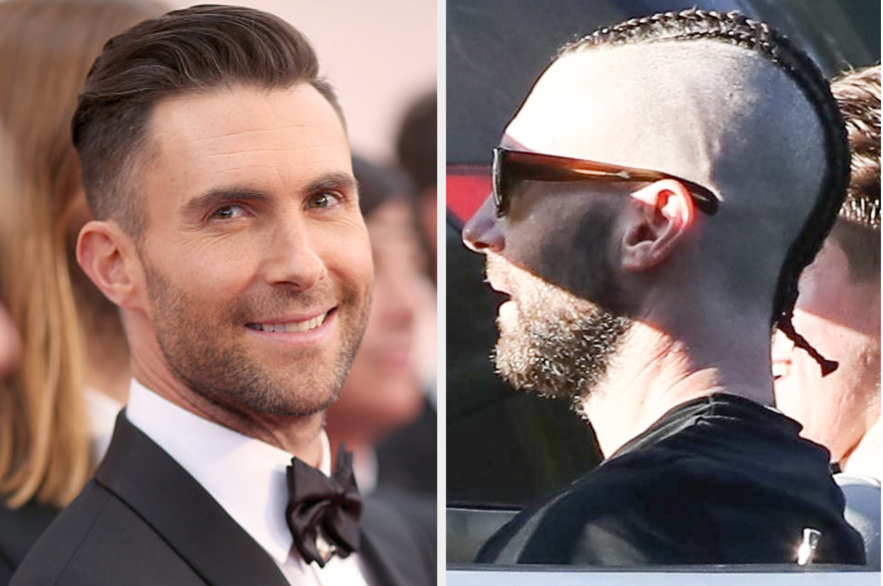 Adam Levine S Cornrows And Shaved Head Are Just A Lot To Process