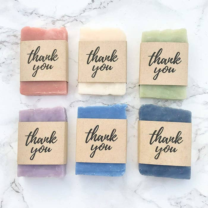 soap that says thank you