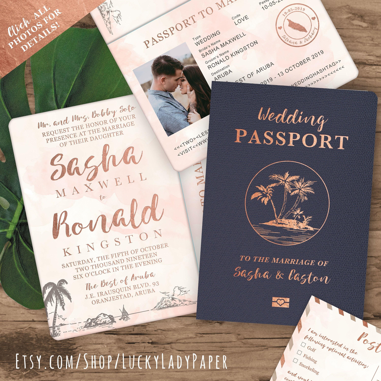 invitations that look like passports