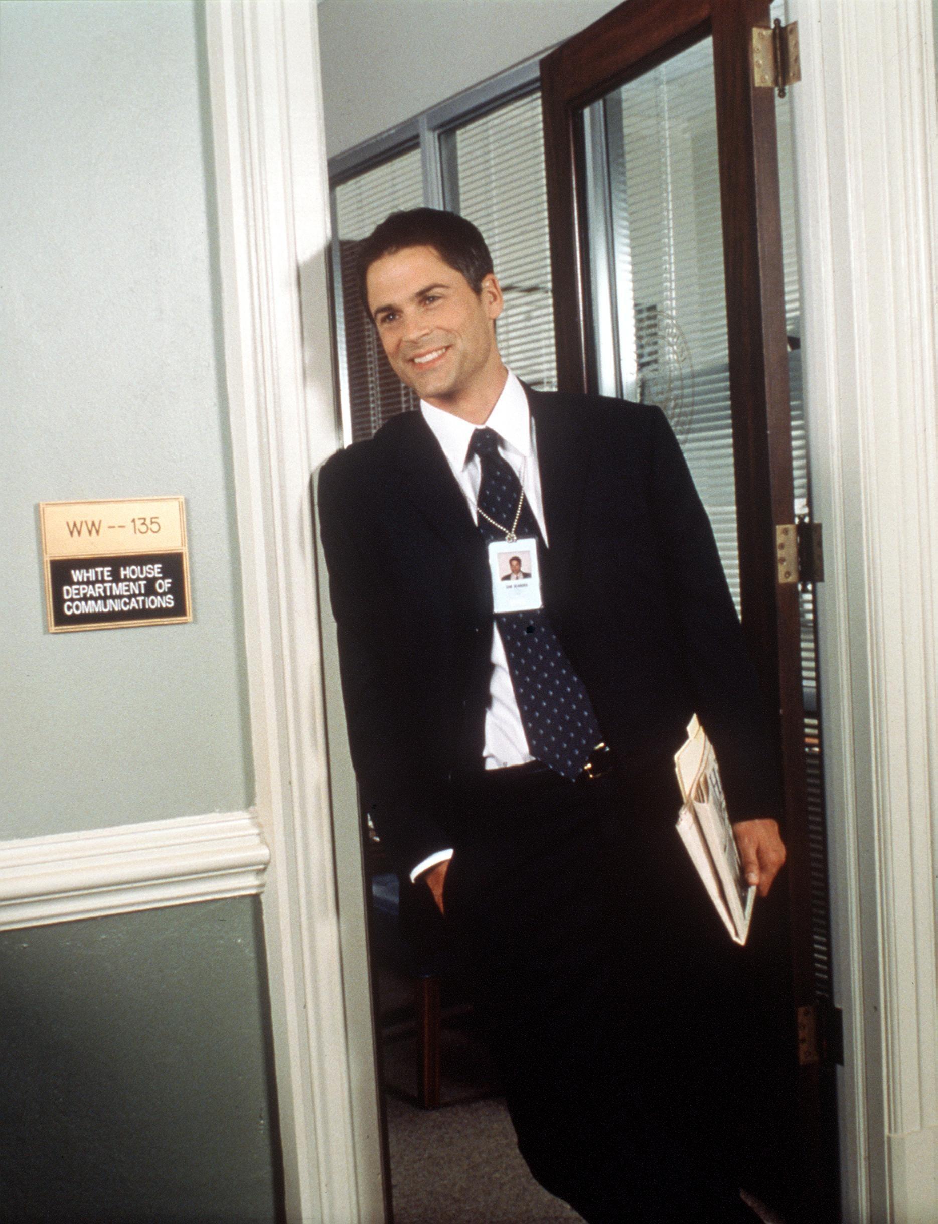 Rob Lowe in a door