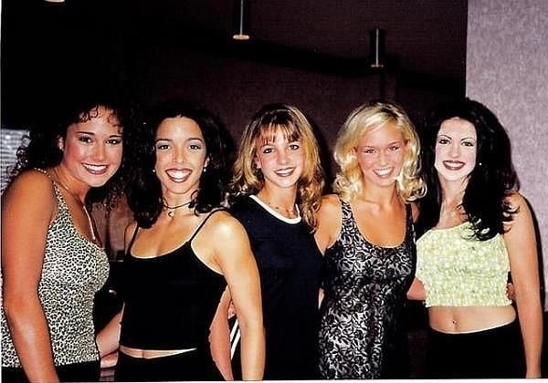 A young Britney surrounded by fellow group members