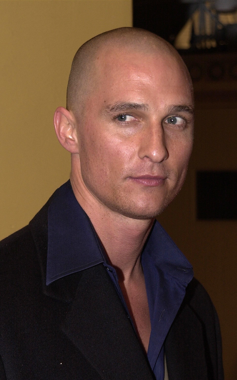 A bald Matthew