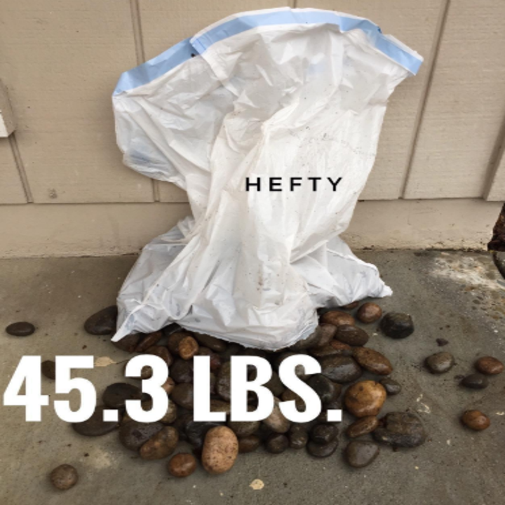 a garbage bag