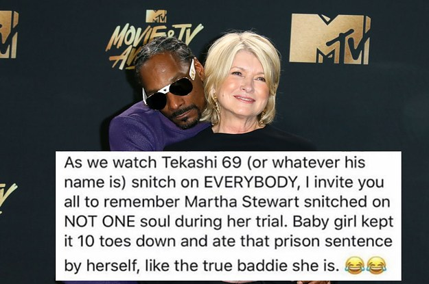 We Absolutely Must Discuss This Incredible Instagram Snoop Dogg Posted About Martha Stewart's Prison Time
