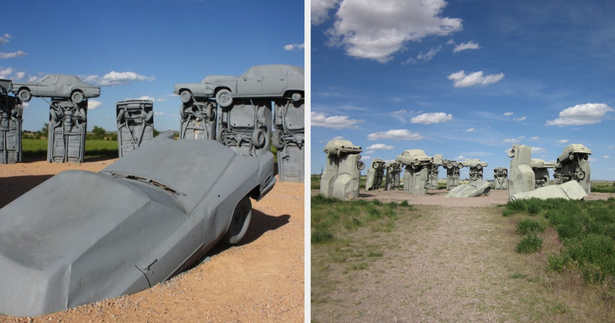 I'm Here To Tell You All About Carhenge, Yes Stonehenge But Made Of Cars