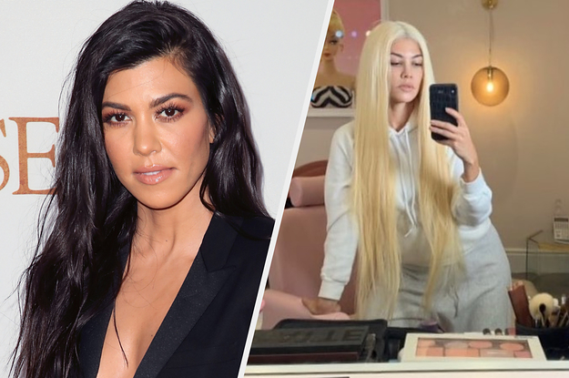 Kourtney Kardashian Has Long Blonde Hair Now And Is Truly Unrecognizable
