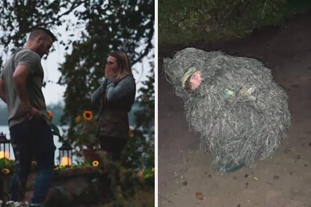 This Woman Hid In A Bush During Her Sister's Engagement