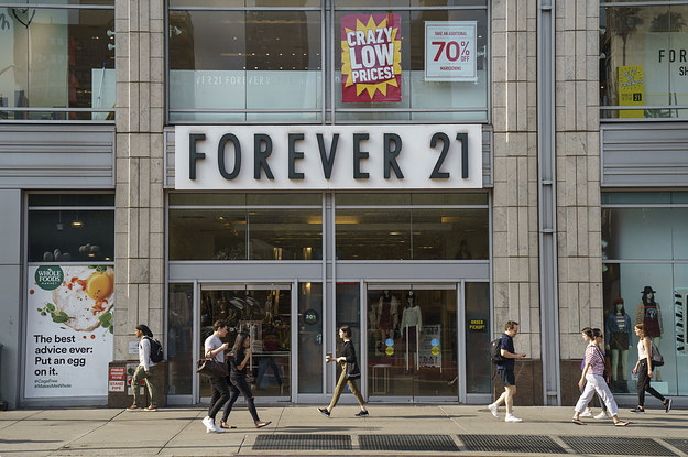 Briefly 21: Forever 21 Says Its Declaring Bankruptcy