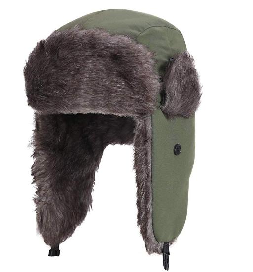 one of those fur newsboy caps