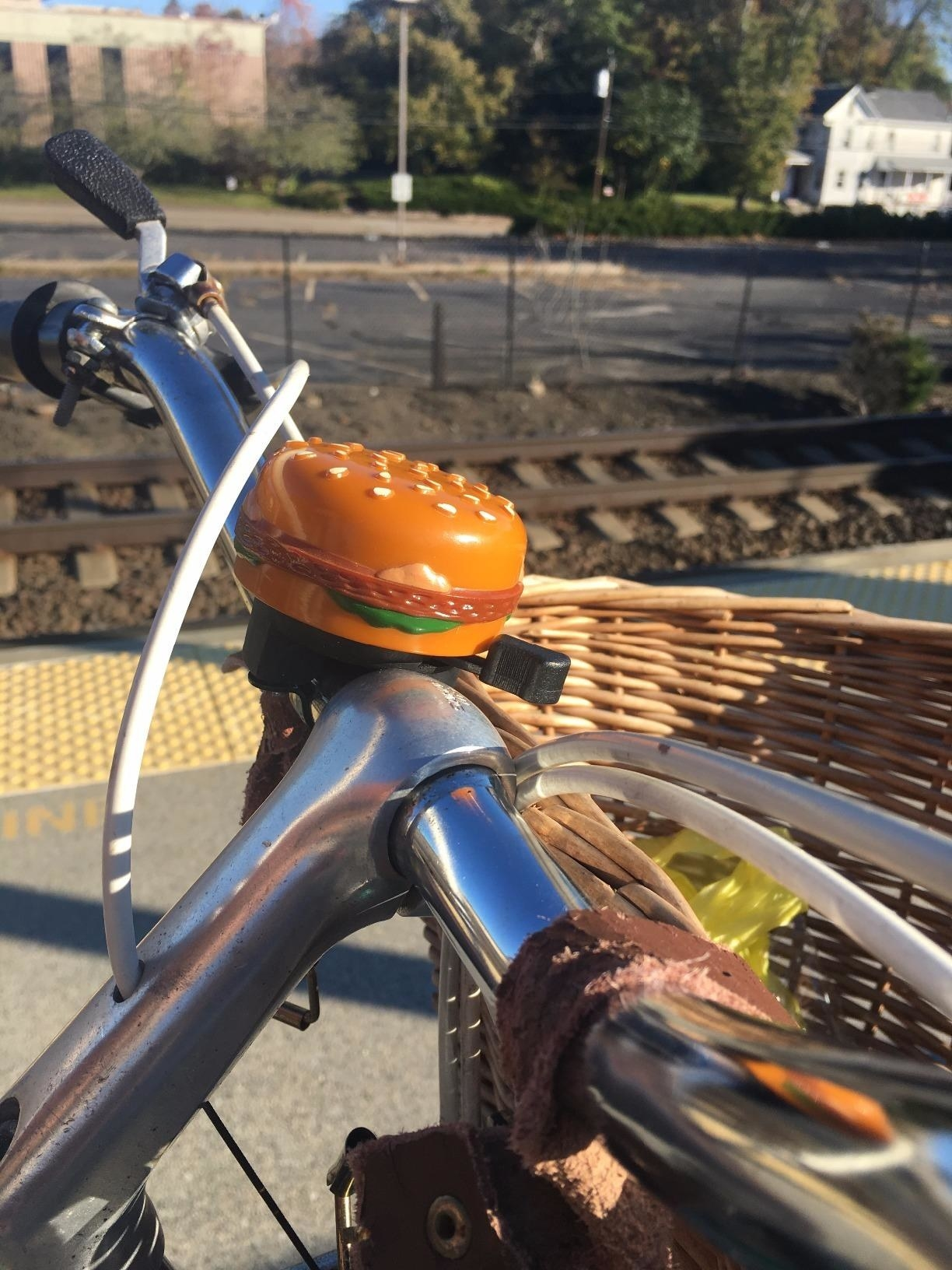 burger shaped bike bell