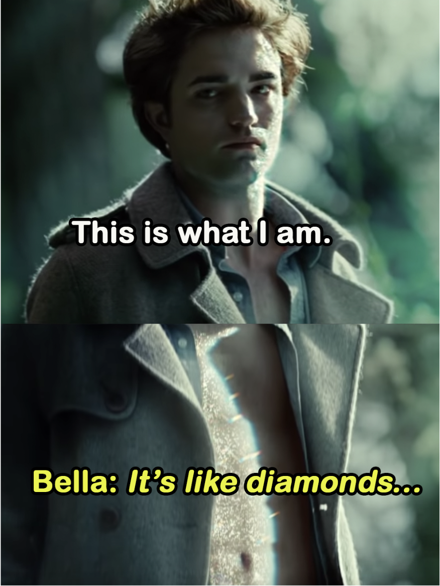 """Edward: """"This is what I am""""; Bella: """"It's like diamonds"""""""