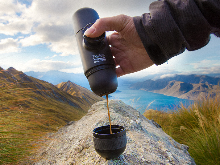 tube-shaped coffee maker