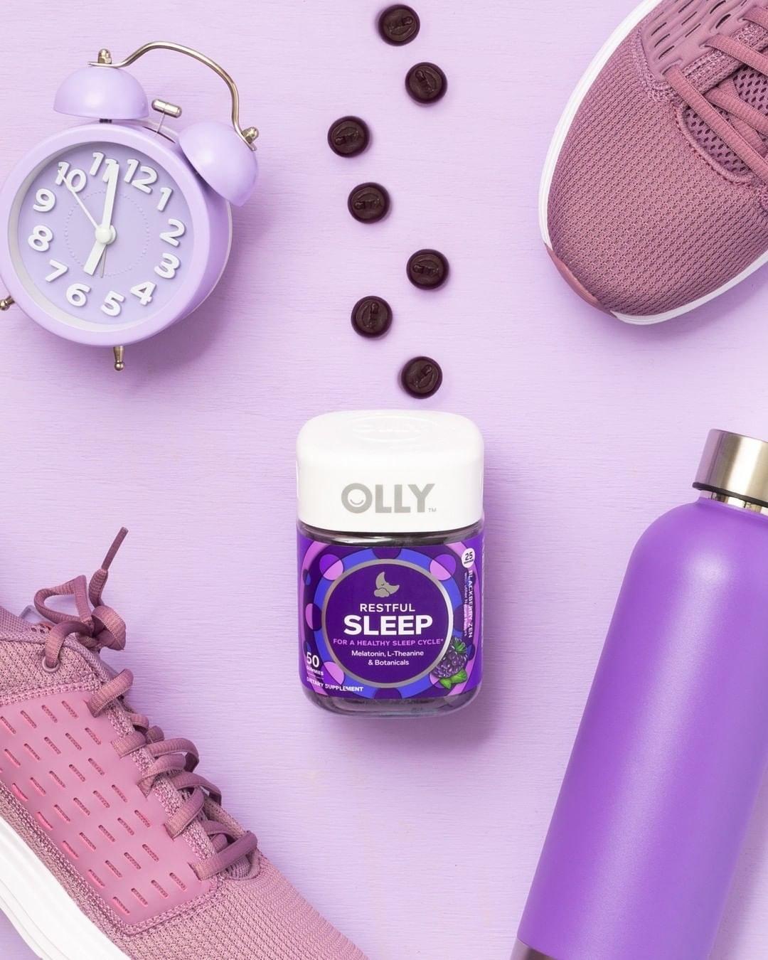 bottle of purple gummies