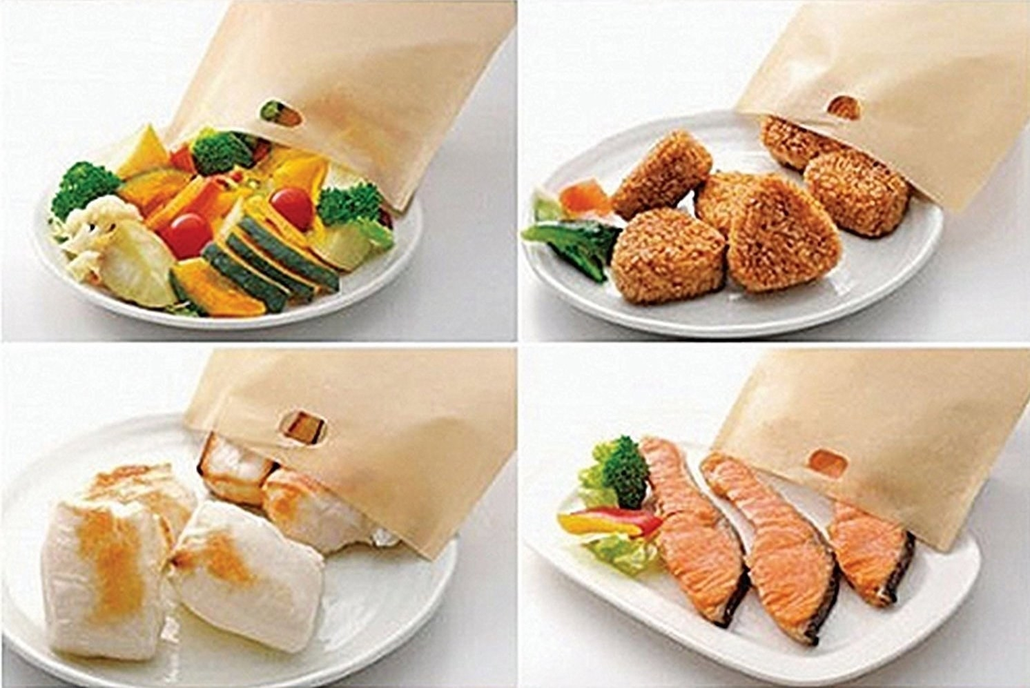 the toaster bags and a variety of food you can make with them