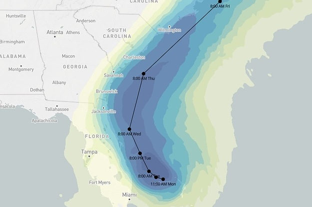 These Maps Show Where Hurricane Dorian Could Hit Hardest