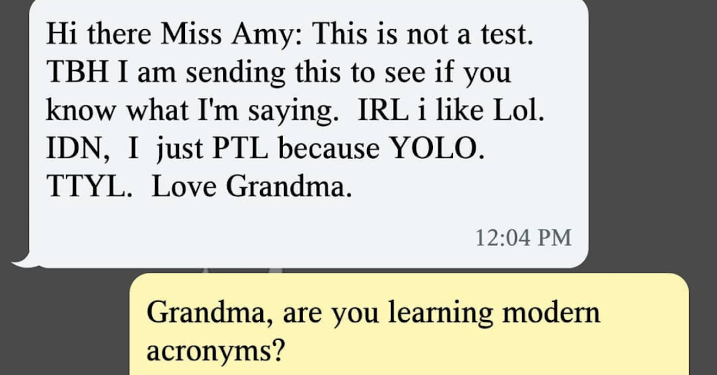 18 Grandmas Whose Text Game Is Seriously Something To Admire