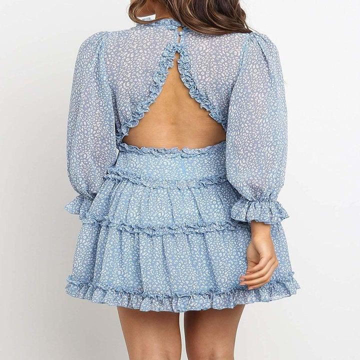 model showcasing back of dress