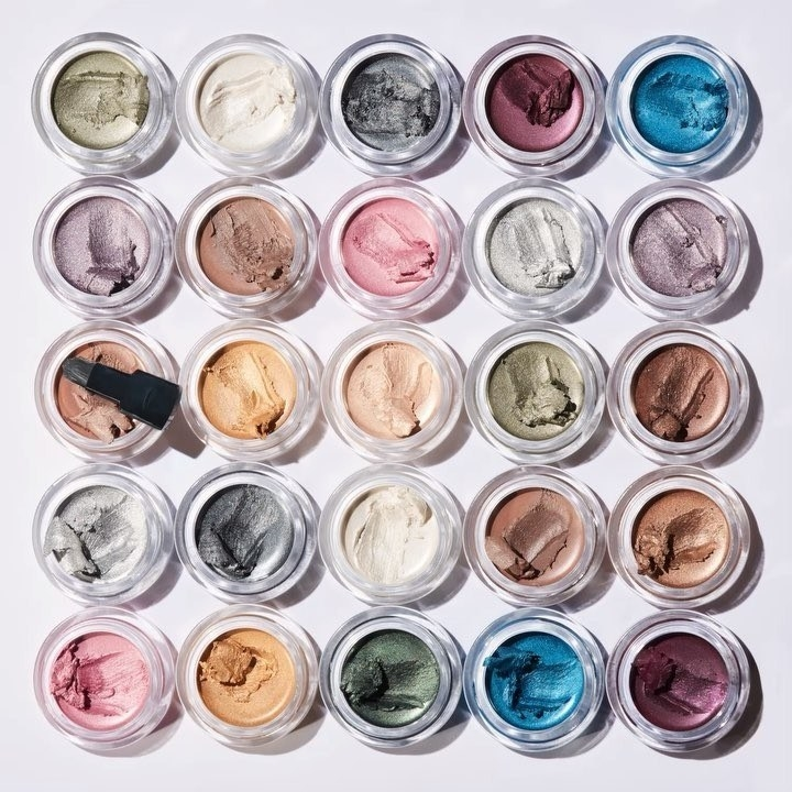 A collection of eyeshadows in a variety of colors