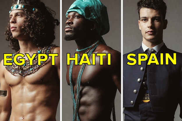 36 Men From 36 Different Places Dressed In Their National Costume For A Male Beauty Pageant