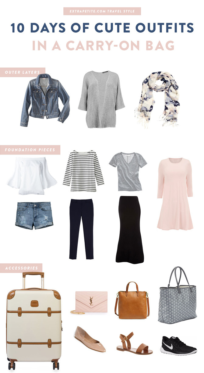 A graphic of a suggested capsule wardrobe, including foundation pieces, outer layers, and accessories
