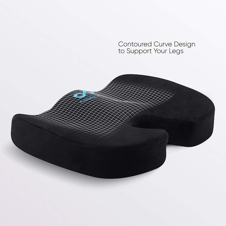 The memory foam seat cushion in black