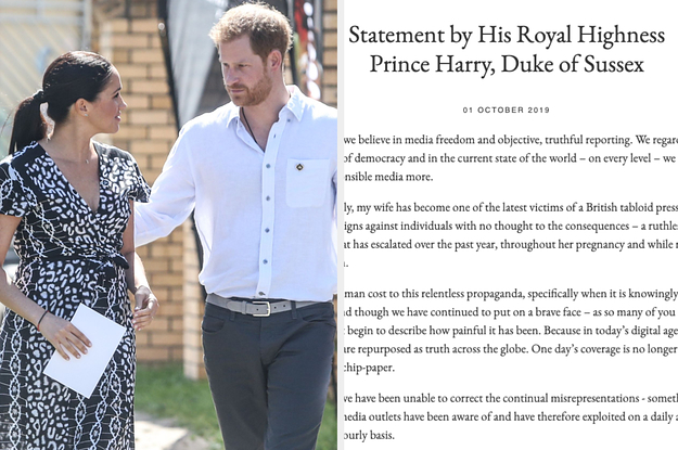 "Prince Harry Is Suing The Mail On Sunday For Their ""False"" And ""Derogatory"" Coverage Of Meghan"