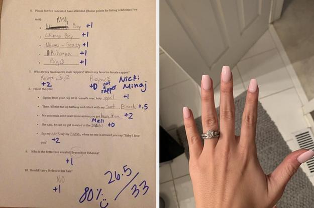 The Woman Who Made Her Boyfriend Take A Beyoncé Exam Just Threw A Beyoncé-Themed Wedding