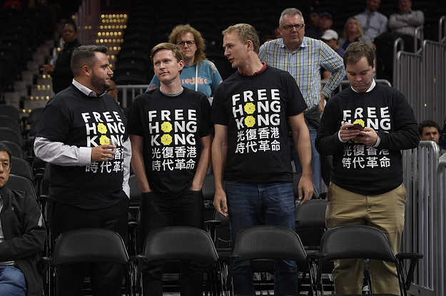 NBA Fans Are Getting Kicked Out Of Games And Their Signs Confiscated For Supporting Hong Kong